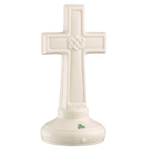 Belleek China Celtic Love Knot Cross